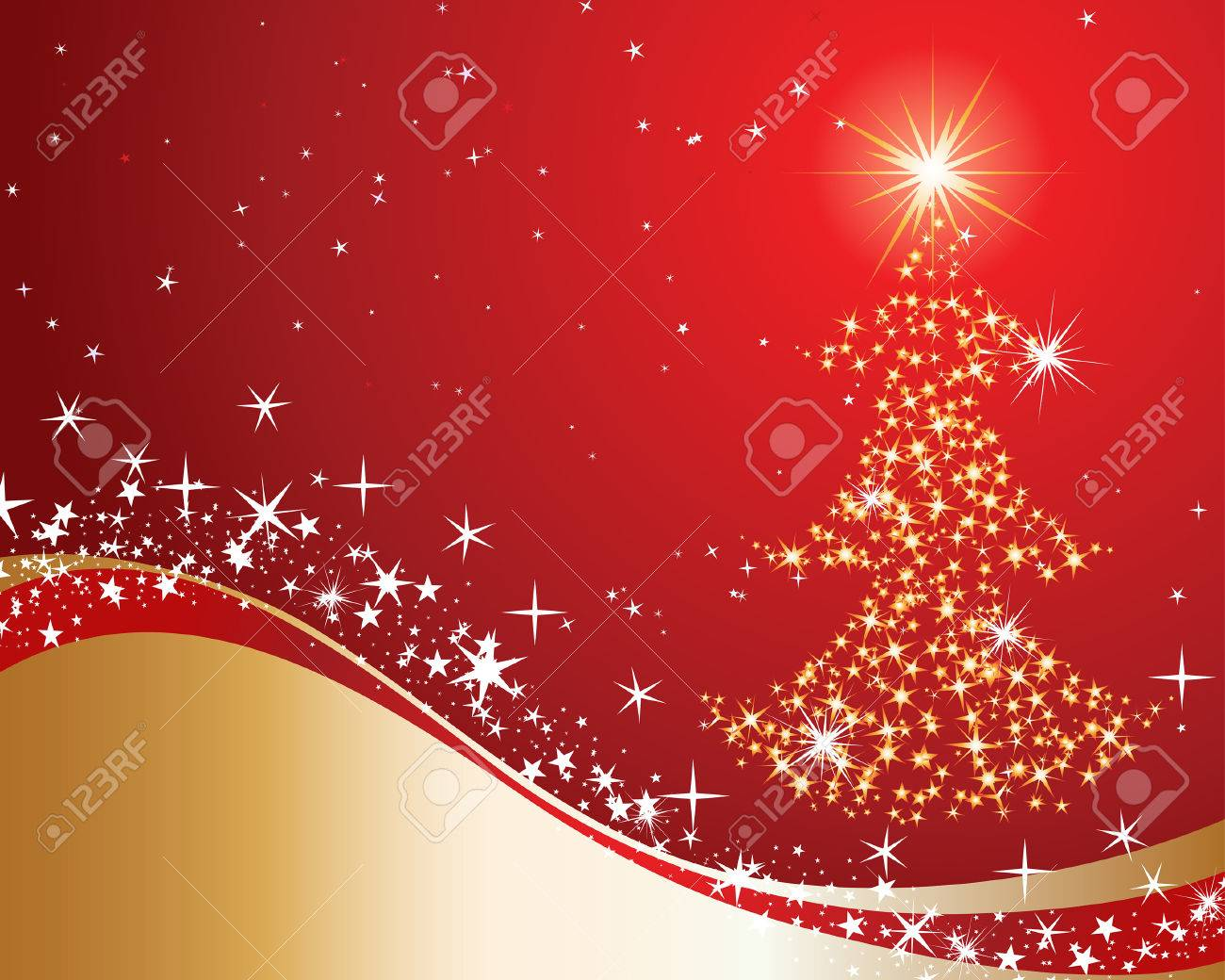 Beautiful vector Christmas (New Year) background for design use Stock Vector - 5735242