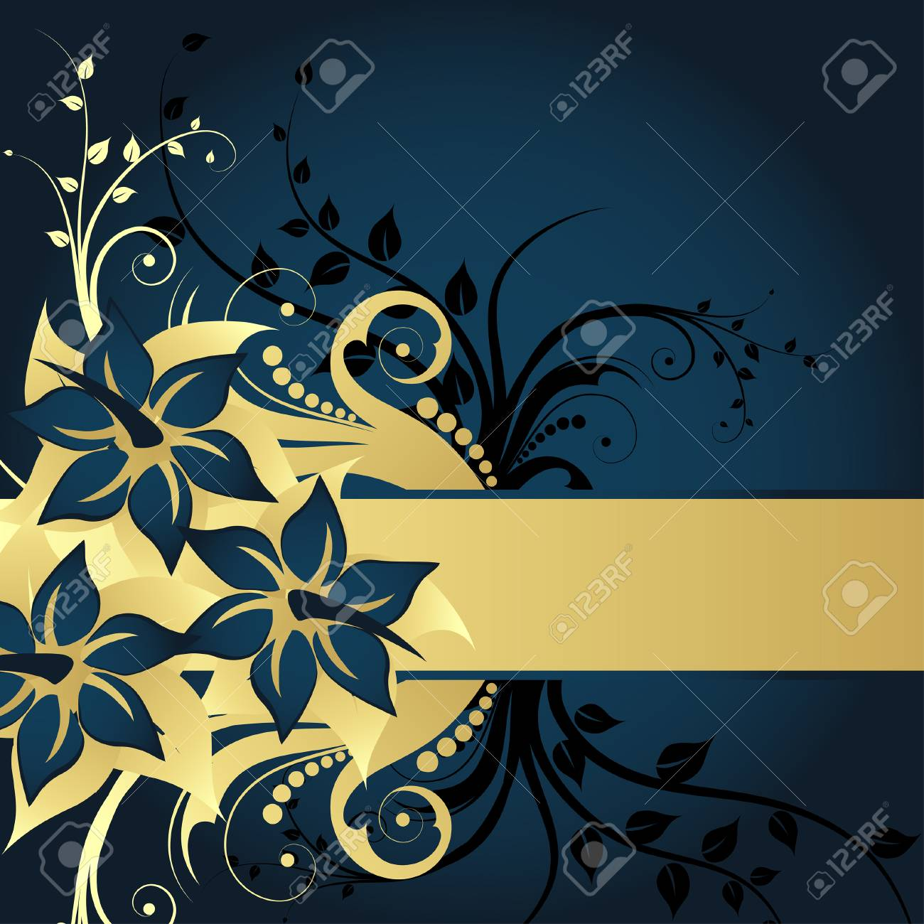 Floral background for design use. Vector illustration. Stock Vector - 5735236