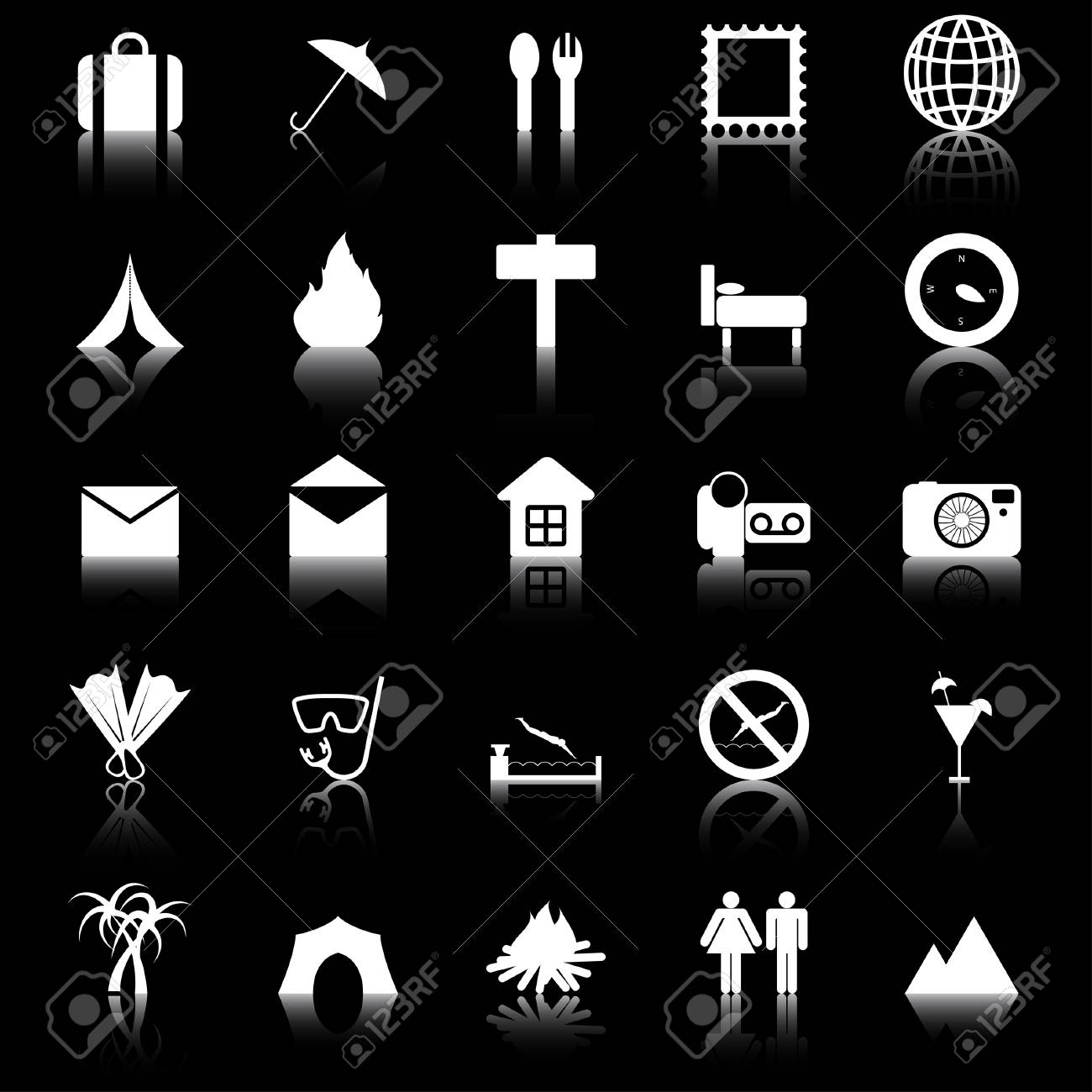 Travel set of different vector web icons Stock Vector - 5762080