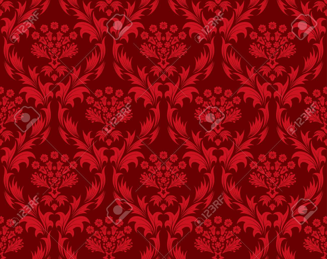 Damask seamless vector background.  For easy making seamless pattern just drag all group into swatches bar, and use it for filling any contours. Stock Vector - 5804606