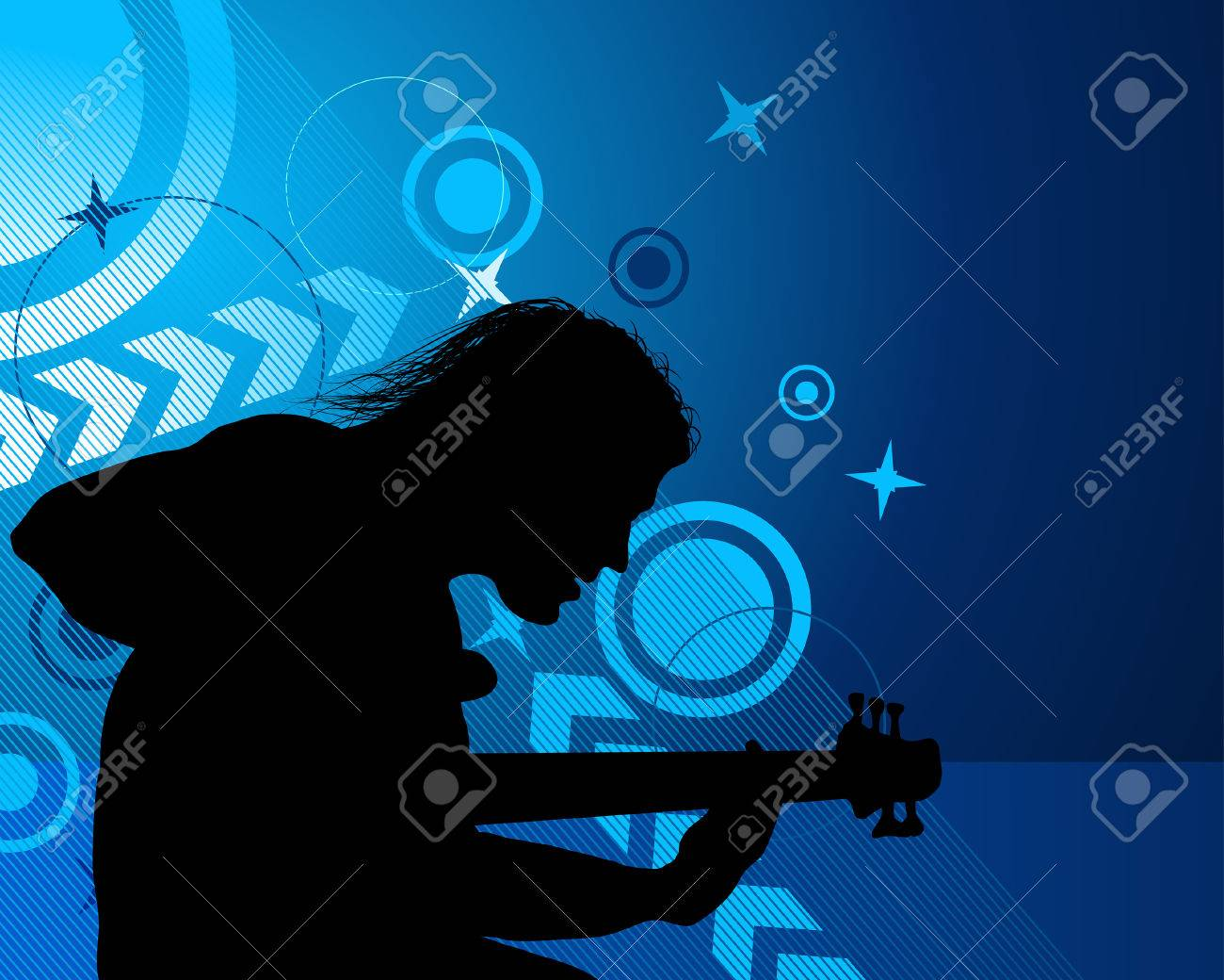 Rock group singers theme. Vector illustration for design use. Stock Vector - 5842793