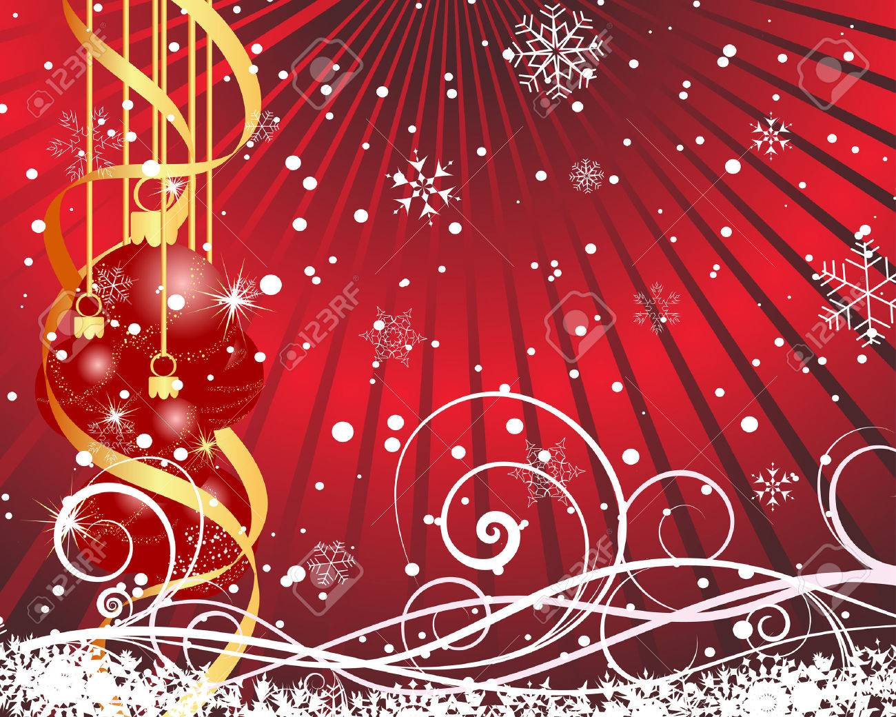 Beautiful vector christmas new year background for design use - Beautiful Vector Christmas New Year Background For Design Use Stock Vector 5868448