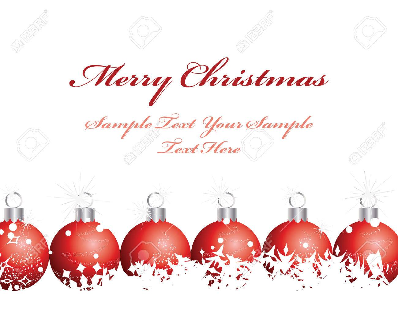 Beautiful vector christmas new year background for design use - Beautiful Vector Christmas New Year Background For Design Use Stock Vector 5868455