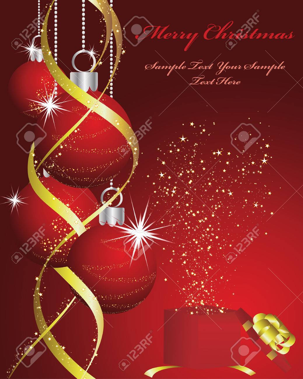 Beautiful vector christmas new year background for design use - Beautiful Vector Christmas New Year Background For Design Use Stock Vector 5868460