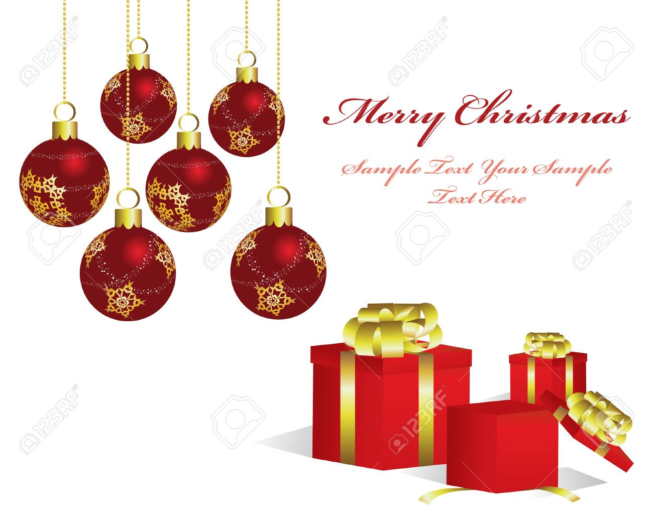 Beautiful vector Christmas (New Year) background for design use Stock Vector - 5868438