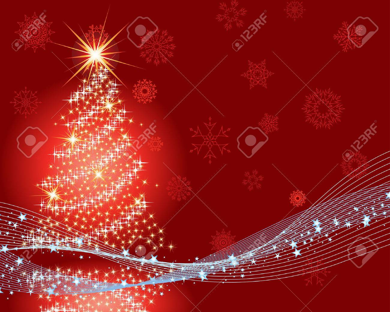 Beautiful vector Christmas (New Year) background for design use Stock Vector - 5868452