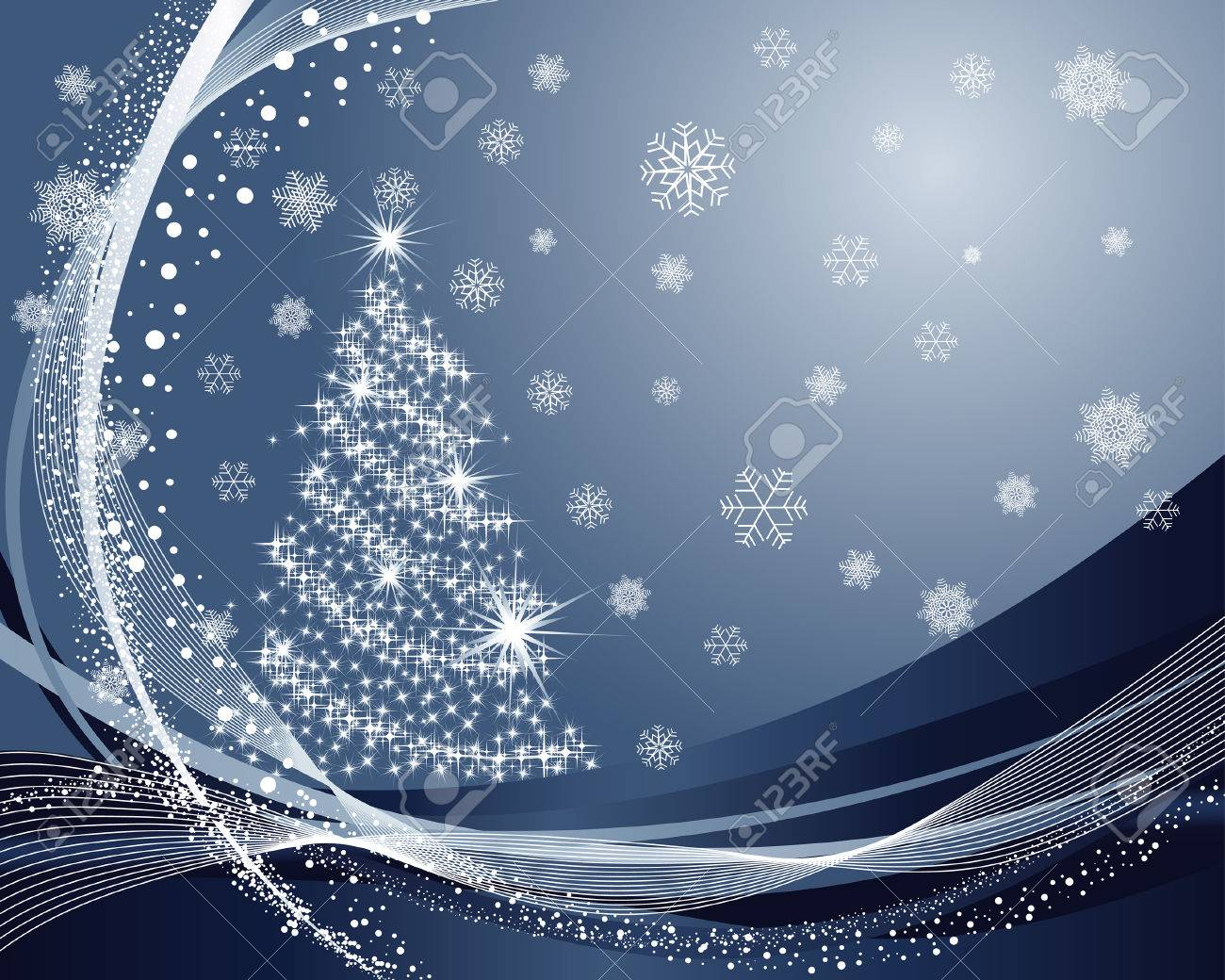 Beautiful vector christmas new year background for design use - Beautiful Vector Christmas New Year Background For Design Use Stock Vector 5935377
