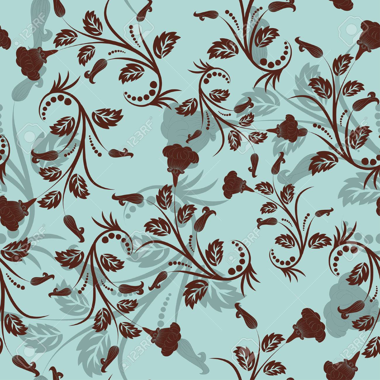 Seamless vector floral background. For easy making seamless pattern just drag all group into swatches bar, and use it for filling any contours. Stock Vector - 5935379