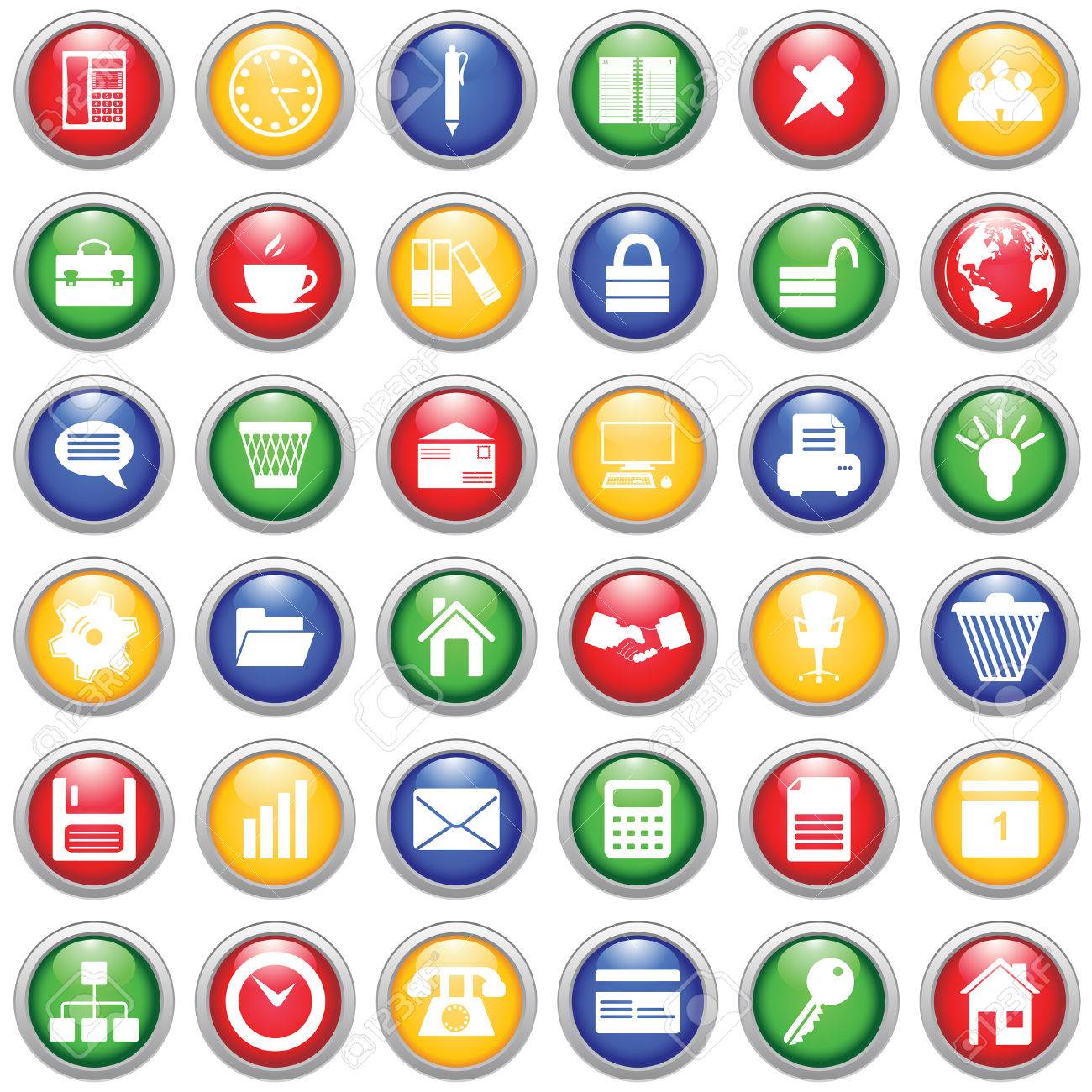 Business and office set of different vector web icons Stock Vector - 5983441