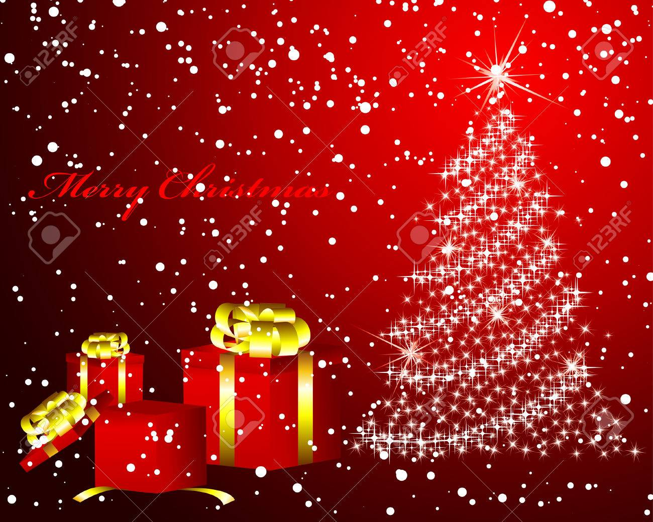 Beautiful vector christmas new year background for design use - Beautiful Vector Christmas New Year Background For Design Use Stock Vector 6071214