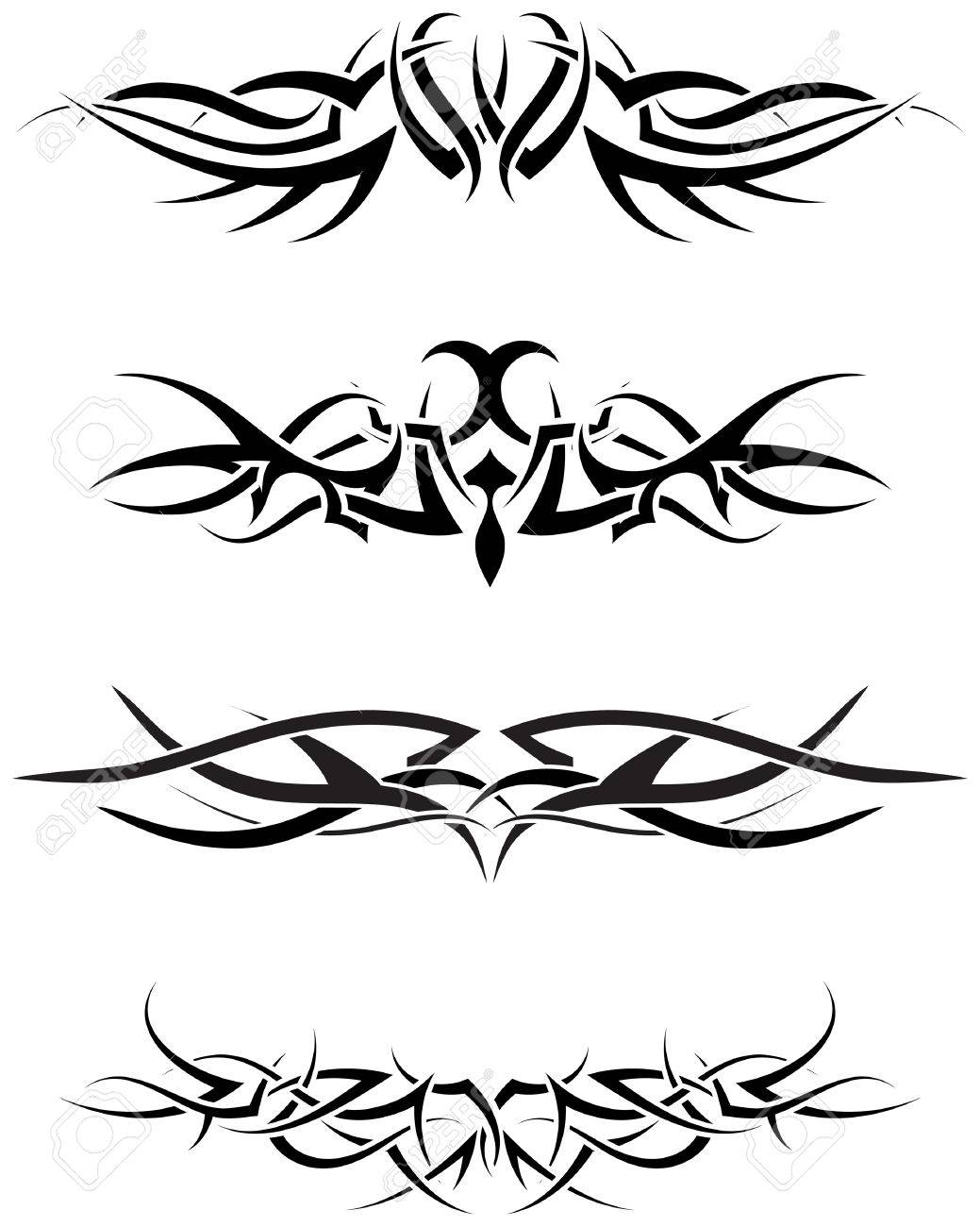 Patterns of tribal tattoo for design use Stock Vector - 6477159