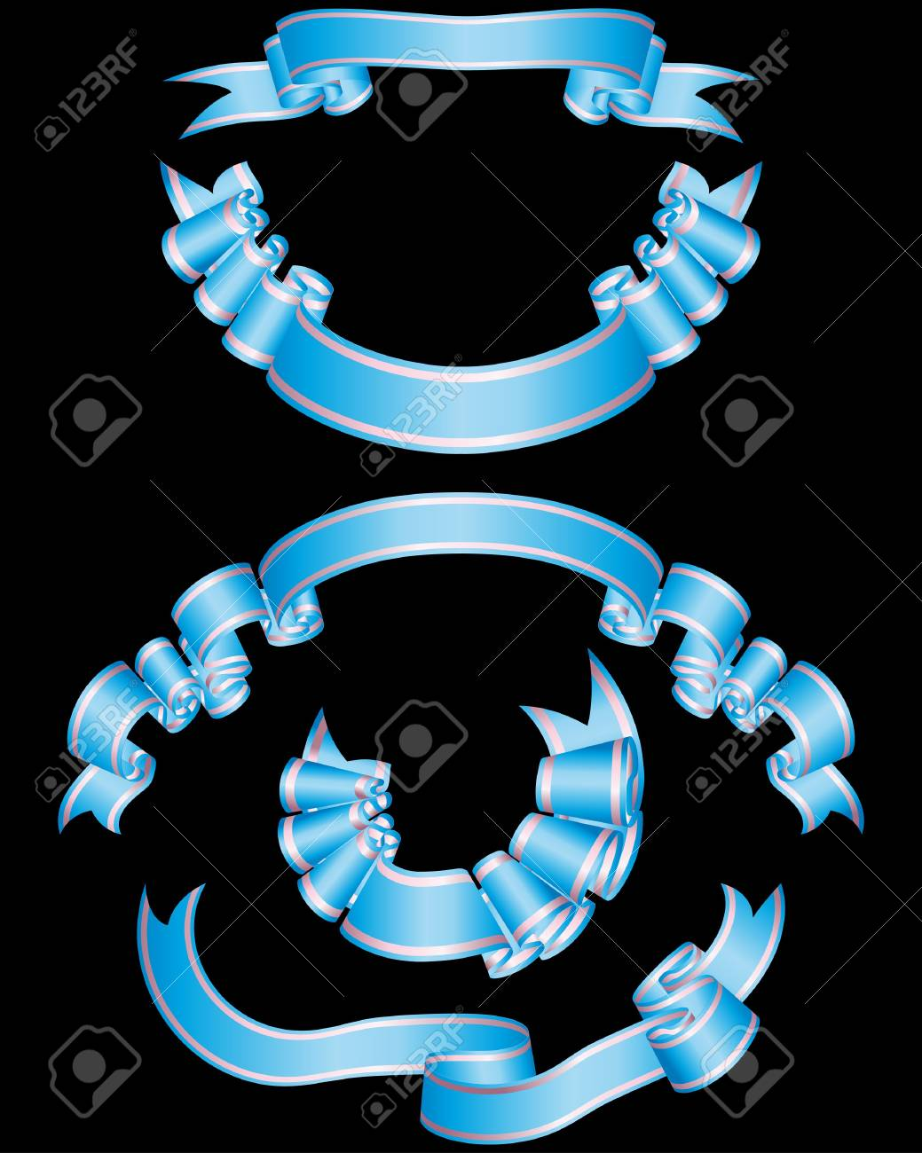 Set of different ribbons for design use Stock Vector - 6581242