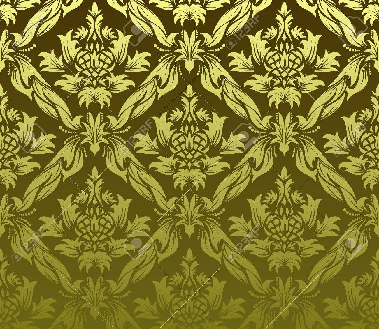 Damask seamless background.  For easy making seamless pattern just drag all group into swatches bar, and use it for filling any contours. Stock Vector - 6581274