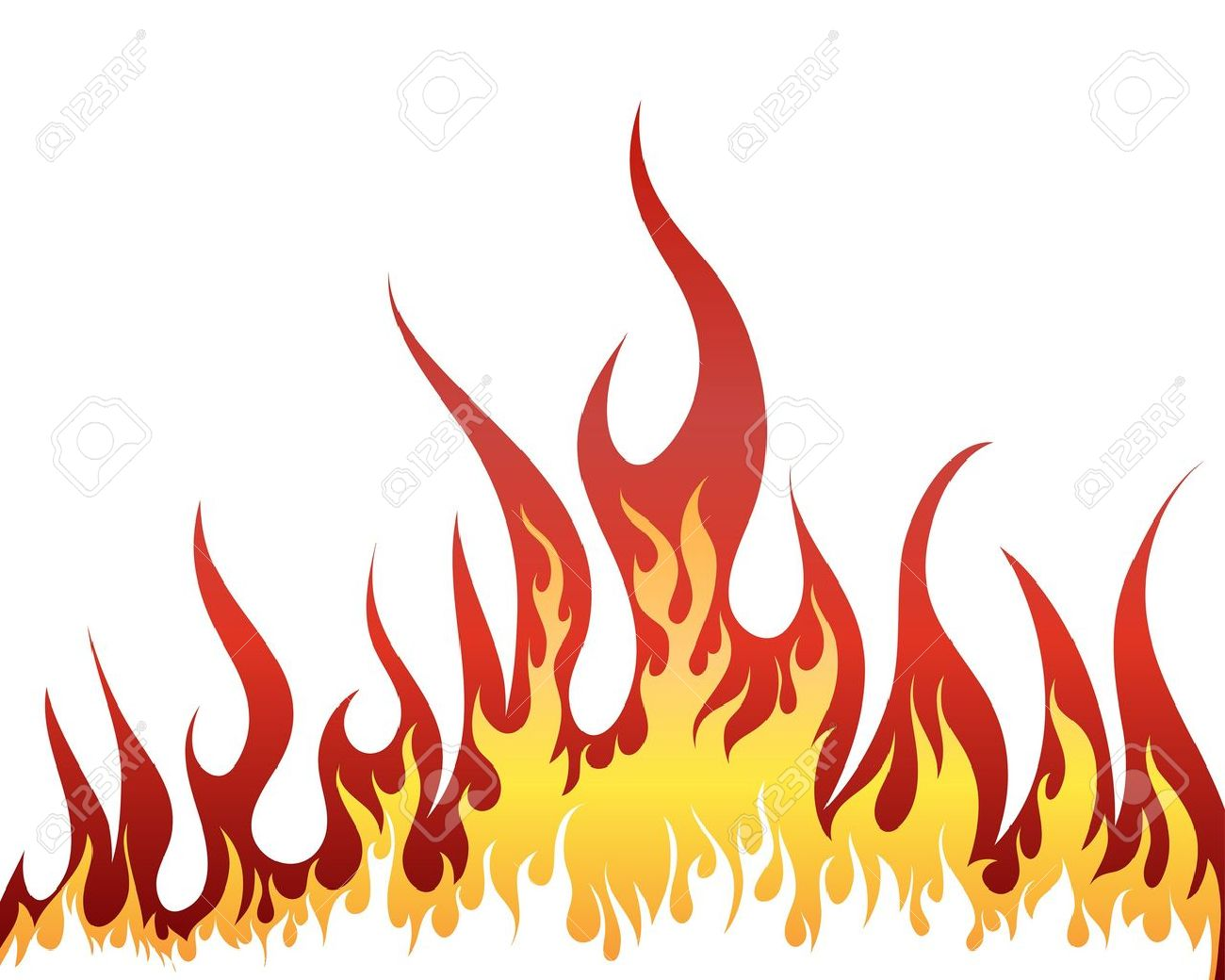 Inferno fire background for design use - 7164892