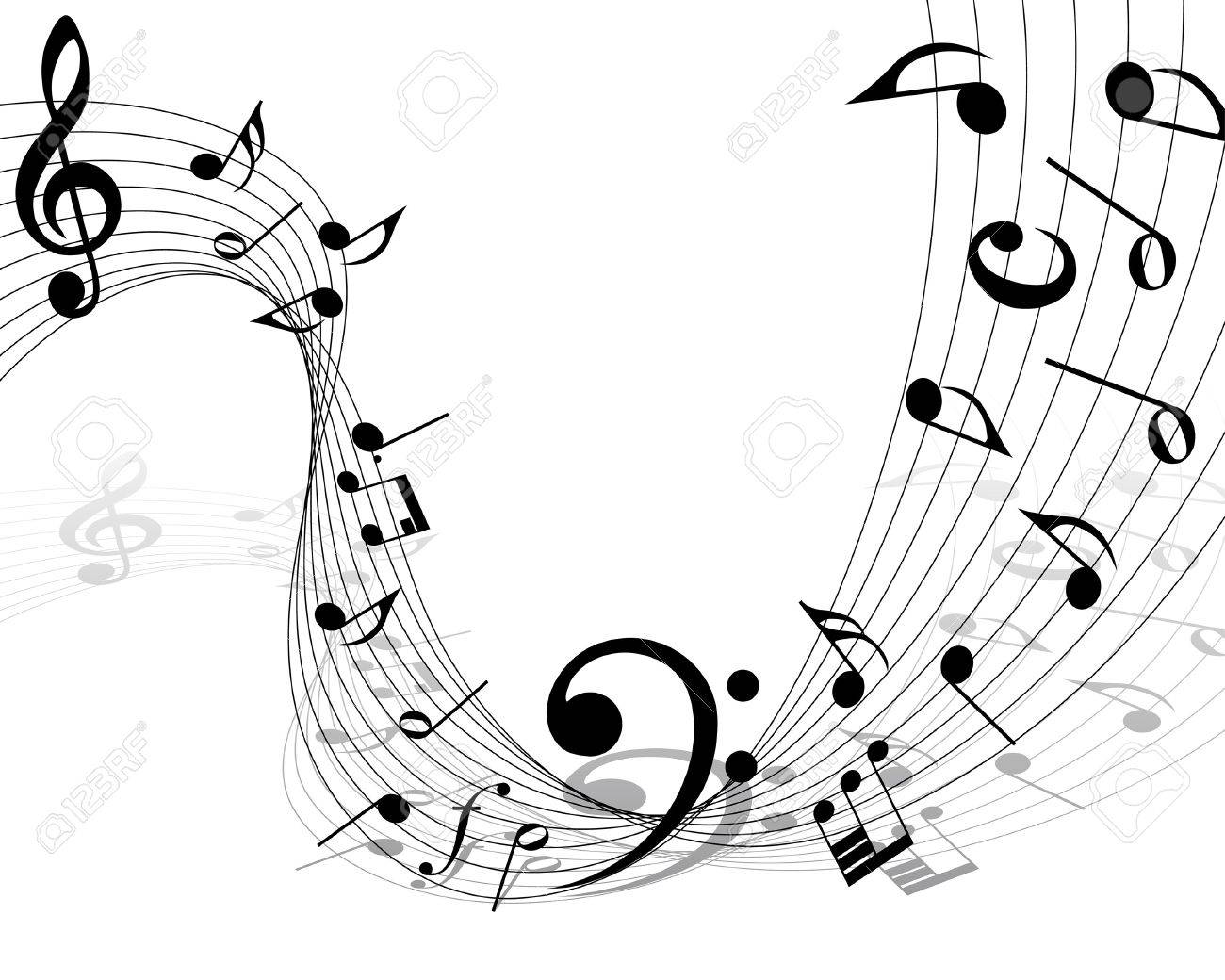 musical notes staff background for design use Stock Vector - 7185110