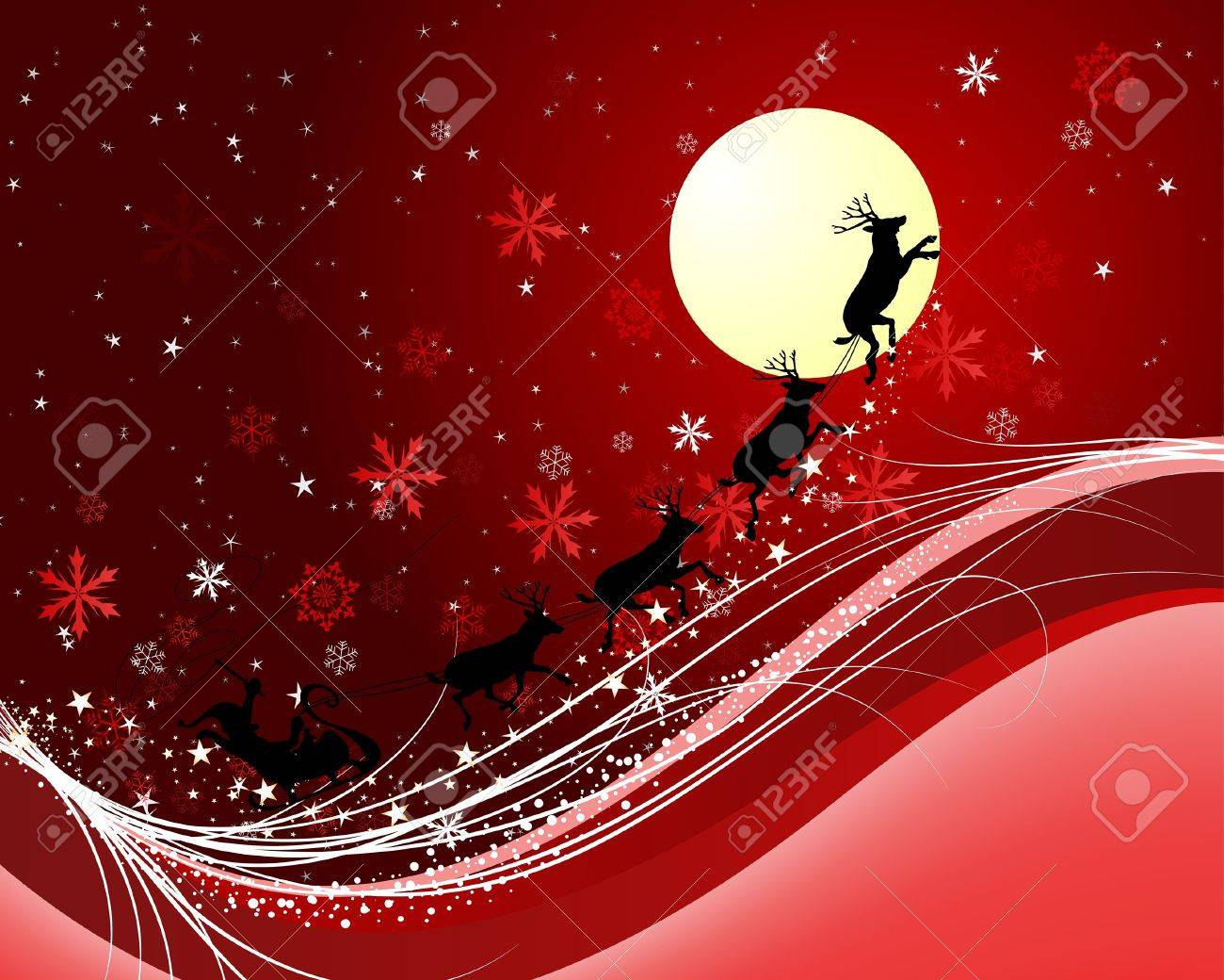 Beautiful vector christmas new year background for design use - Beautiful Christmas New Year Background For Design Use Stock Vector 7524379