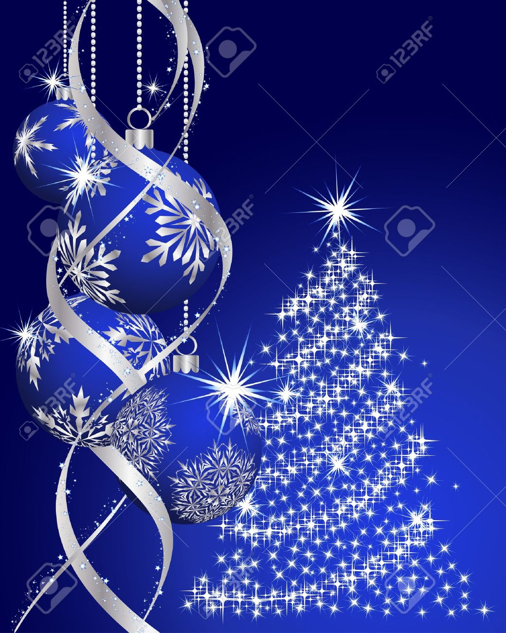 Beautiful vector christmas new year background for design use - Beautiful Christmas New Year Background For Design Use Stock Vector 7561749