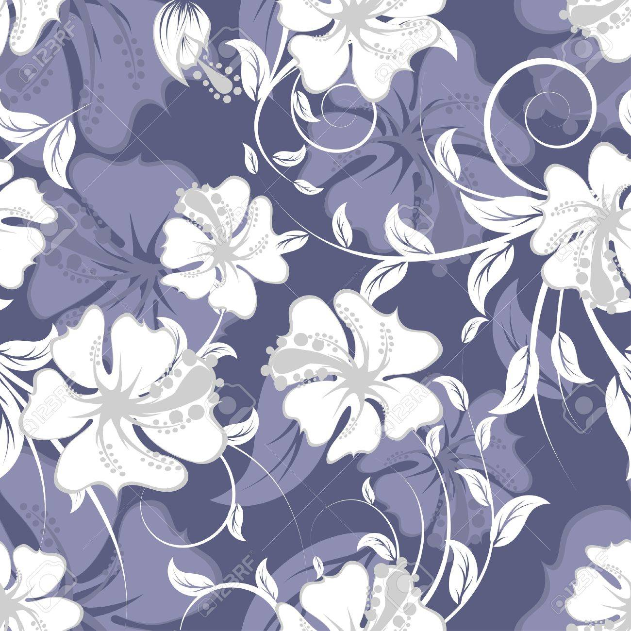 Seamless  floral background. For easy making seamless pattern just drag all group into swatches bar, and use it for filling any contours. Stock Vector - 7561738