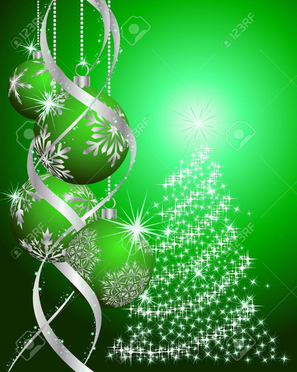 Beautiful vector christmas new year background for design use - Beautiful Christmas New Year Background For Design Use Stock Vector 7685201