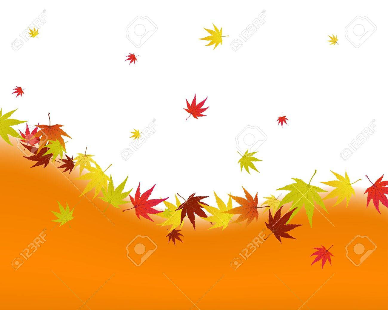 Pattern of autumn  maples leaves. illustration. Stock Vector - 7763682
