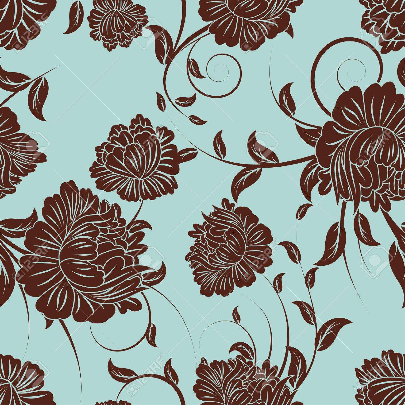 Seamless  floral pattern. For easy making seamless pattern just drag all group into swatches bar, and use it for filling any contours. Stock Vector - 7763680