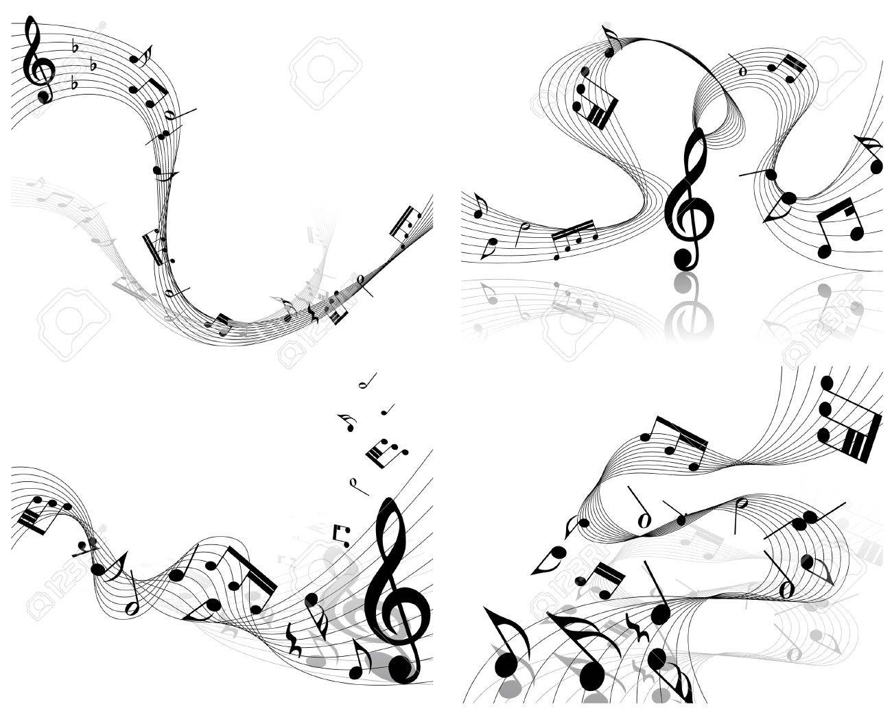 musical notes staff background for design use Stock Vector - 8065385