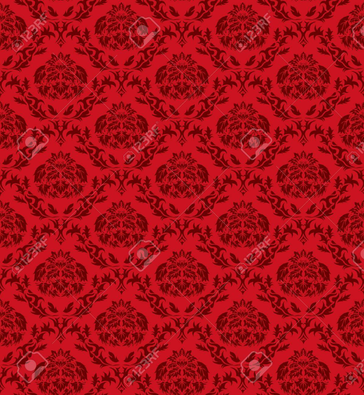 Damask seamless  pattern.  For easy making seamless pattern just drag all group into swatches bar, and use it for filling any contours. Stock Vector - 8285990