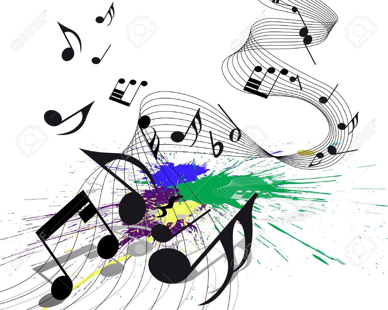 Vector musical notes staff on grunge background for design use Stock Vector - 8845801