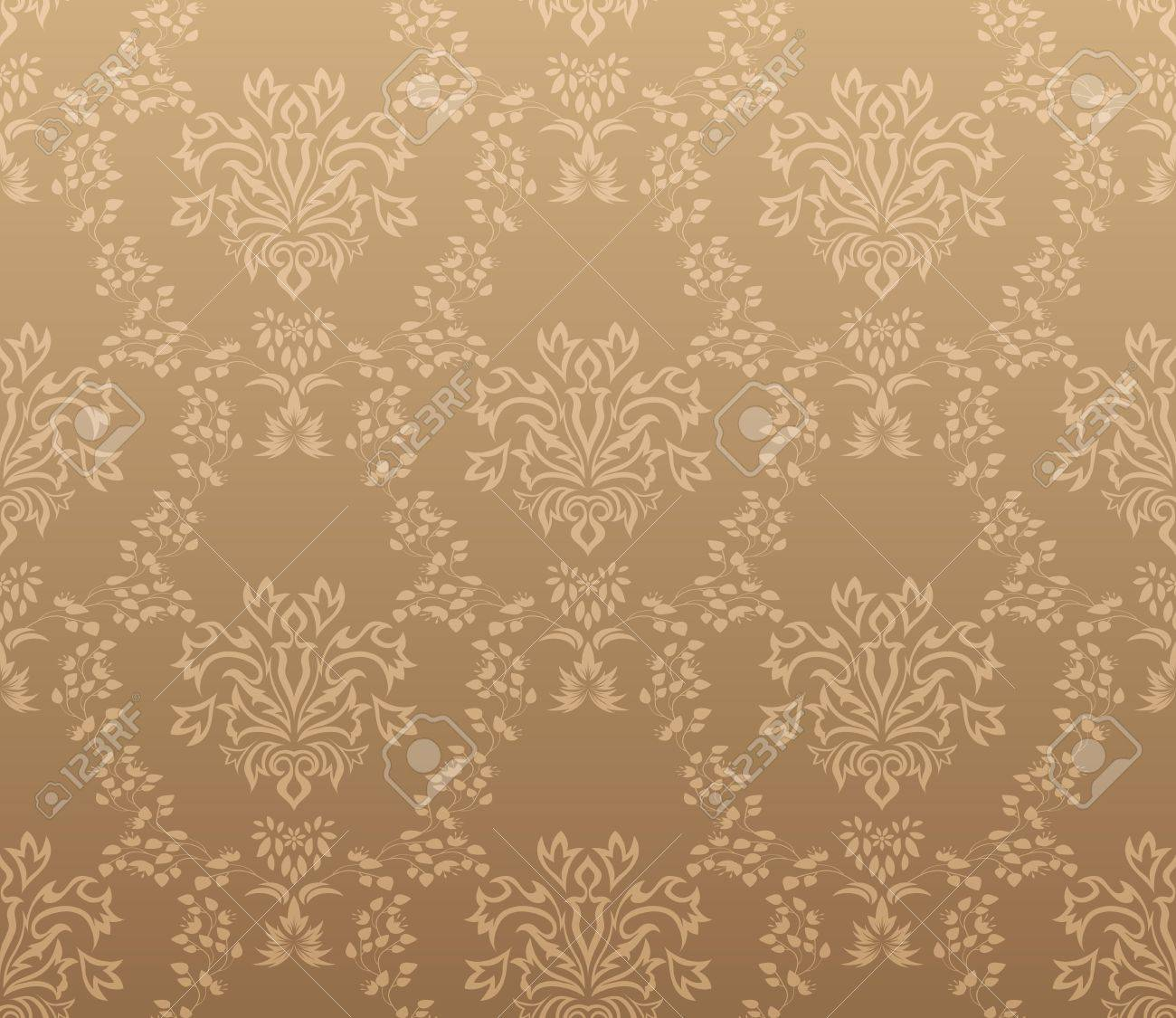 Damask seamless vector pattern.  For easy making seamless pattern just drag all group into swatches bar, and use it for filling any contours. Stock Vector - 8917985