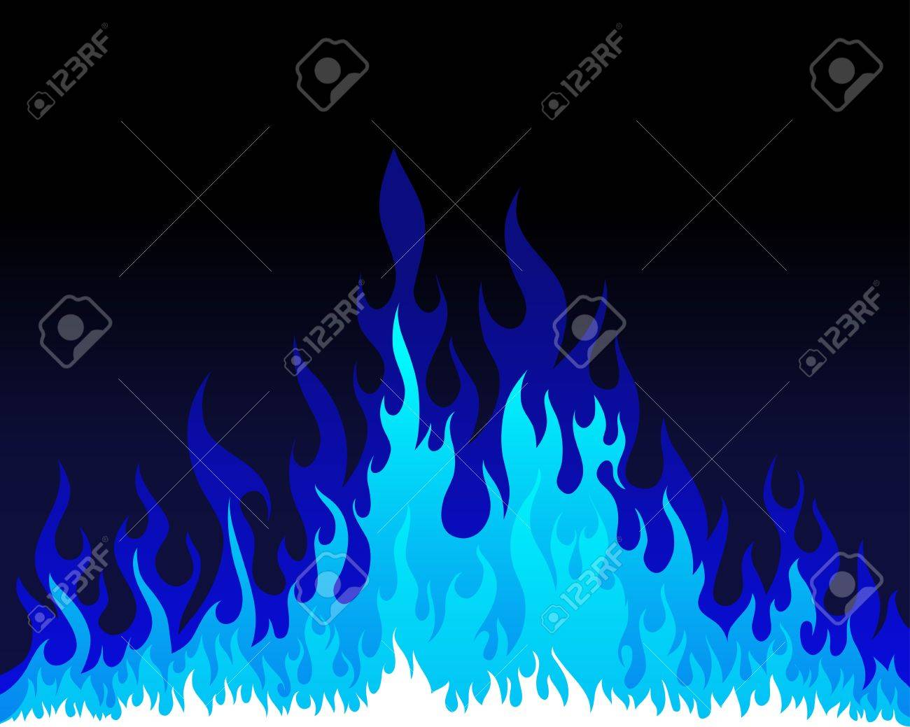 Inferno fire vector background for design use Stock Vector - 9278531