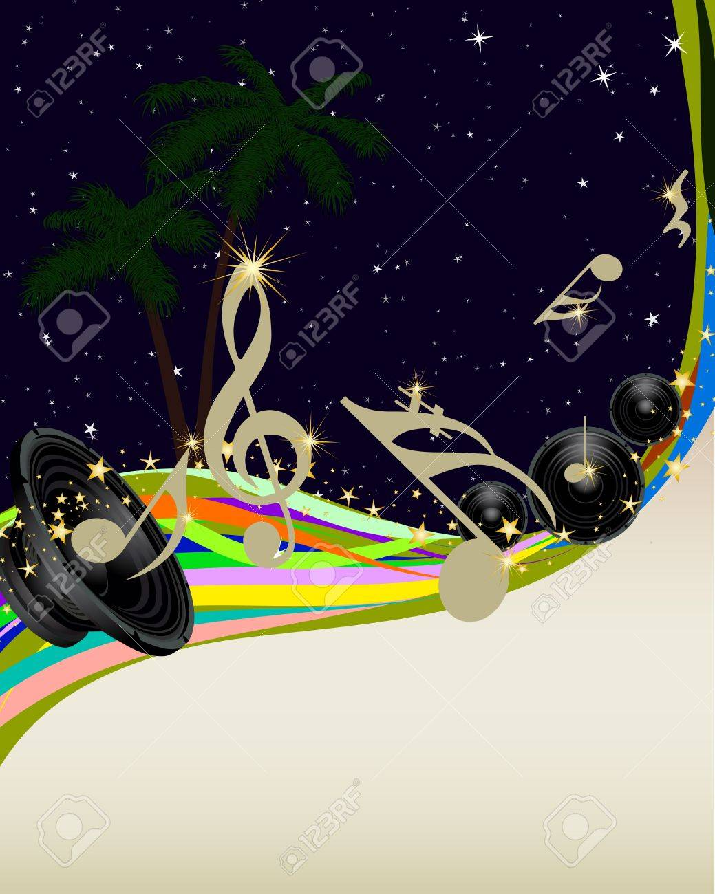 Vector musical notes staff background for design use Stock Vector - 9278553