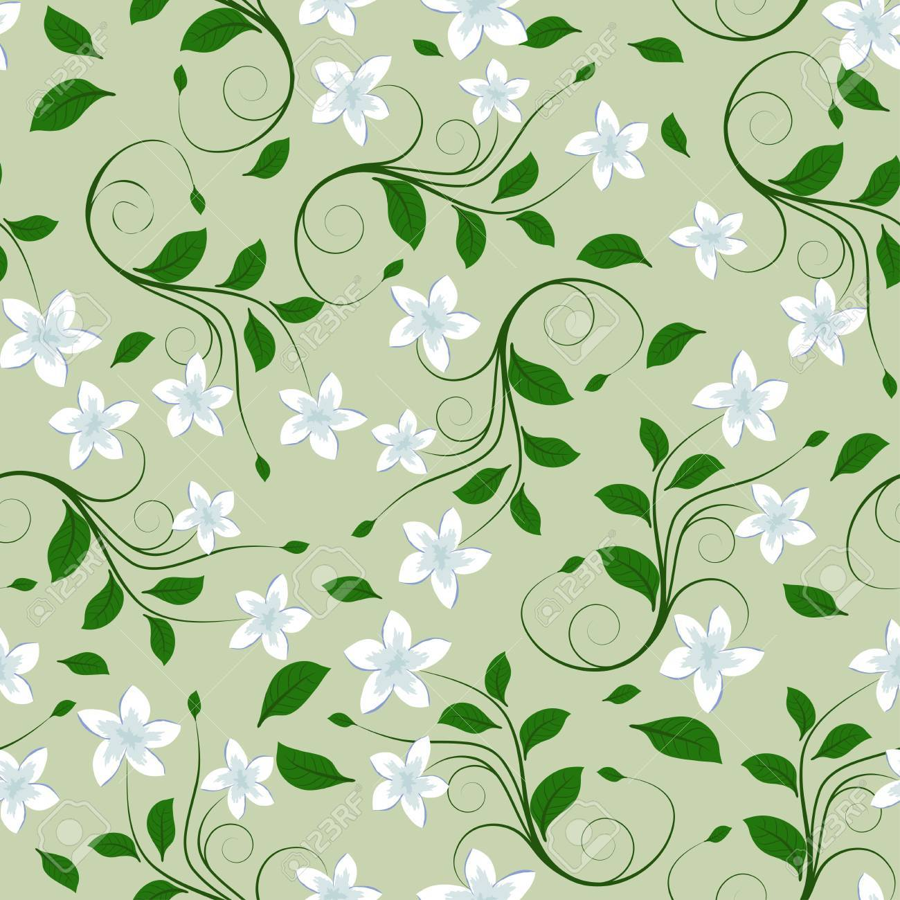 Seamless vector floral pattern. For easy making seamless pattern just drag all group into swatches bar, and use it for filling any contours. Stock Vector - 9417573