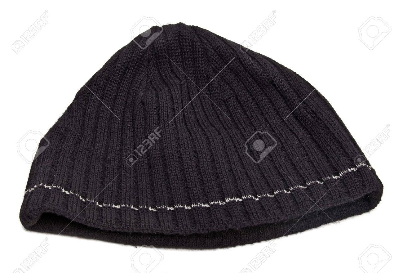 Knitted wool hat isolated on white background Stock Photo - 10634093