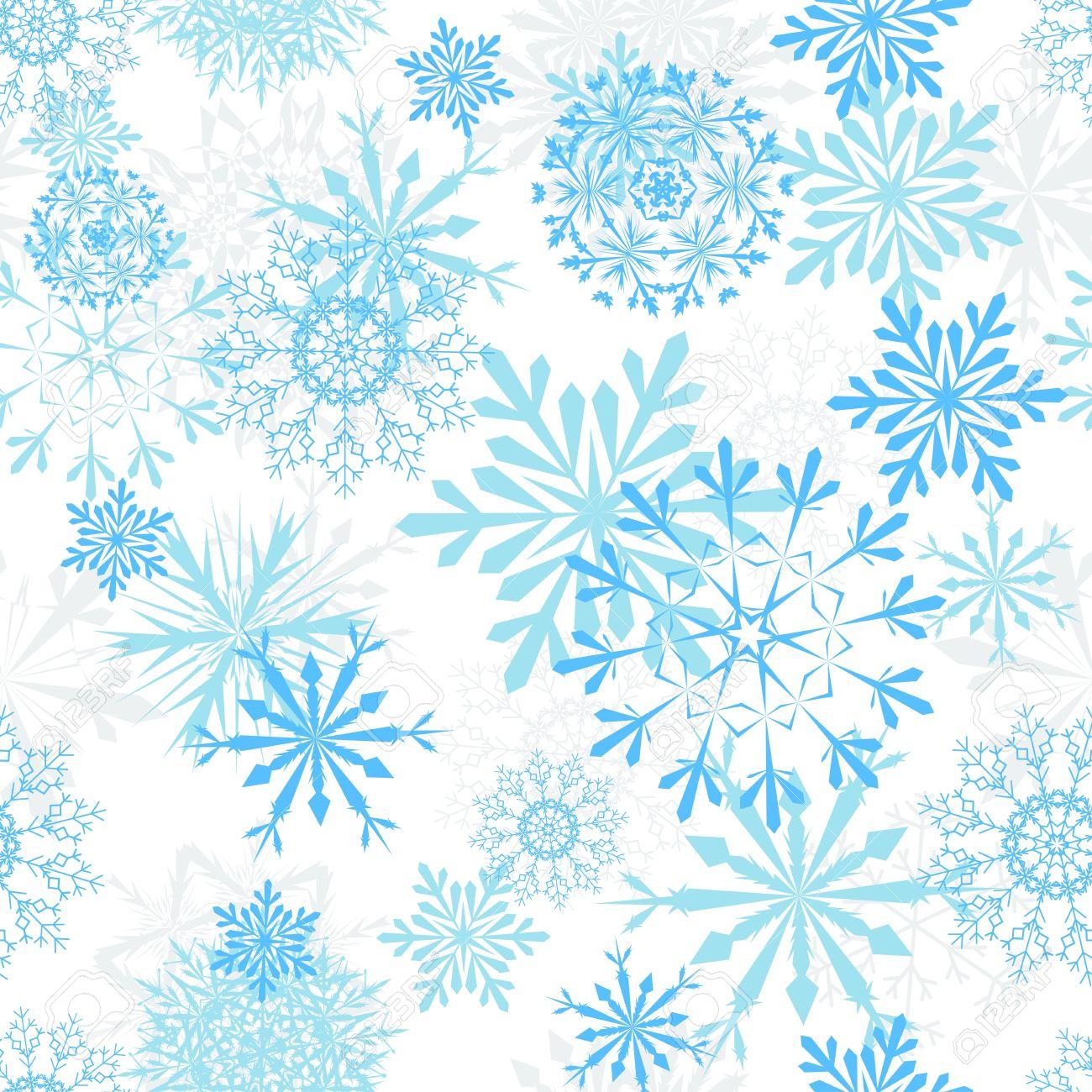 Nahtlose Schneeflocken Hintergrund Für Winter Und Weihnachten Design ...