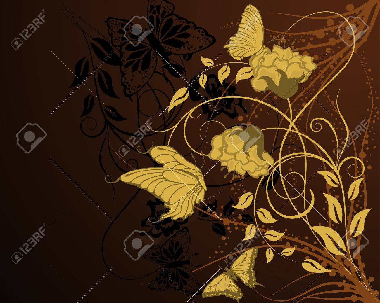 Abstract floral vector background for design use Stock Vector - 10914040