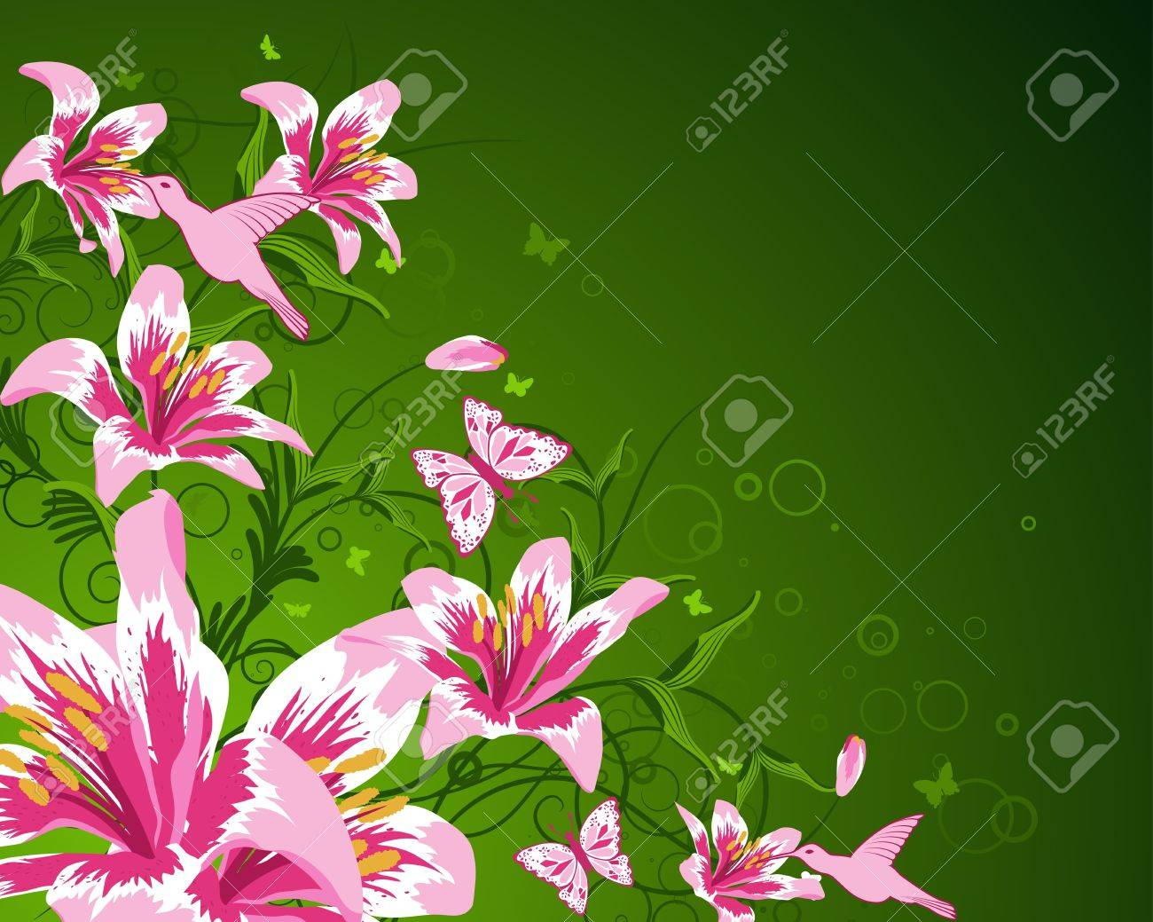 Abstract floral vector background for design use Stock Vector - 10917705