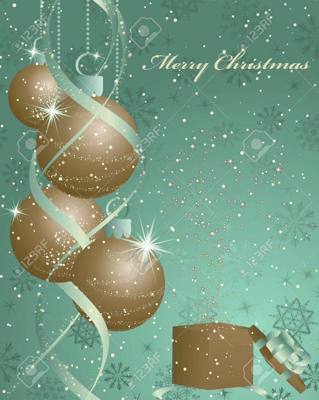 Vintage retro Christmas (New Year) card for design use Stock Vector - 10960236