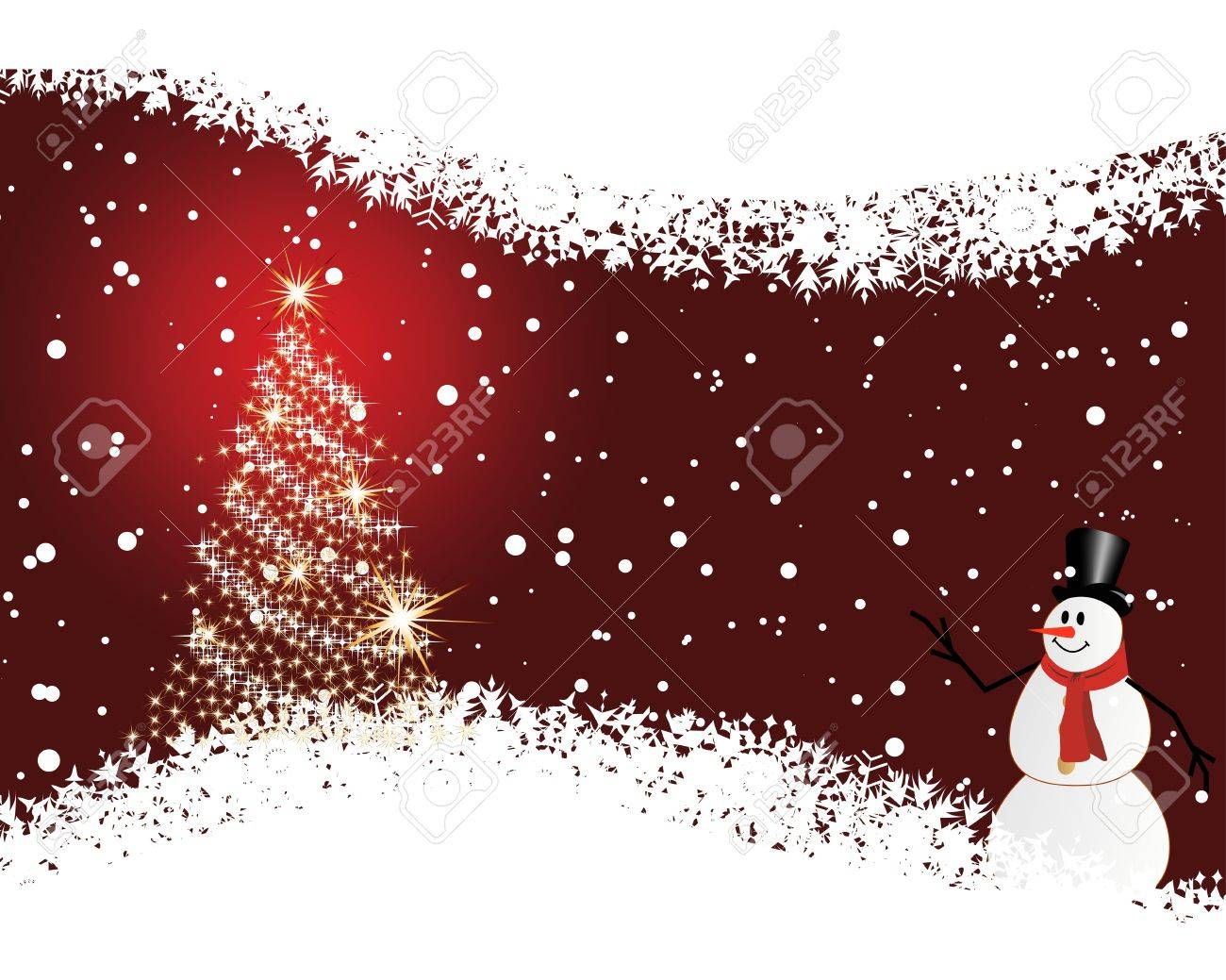 Christmas (New Year) card for design use. Stock Vector - 11072597