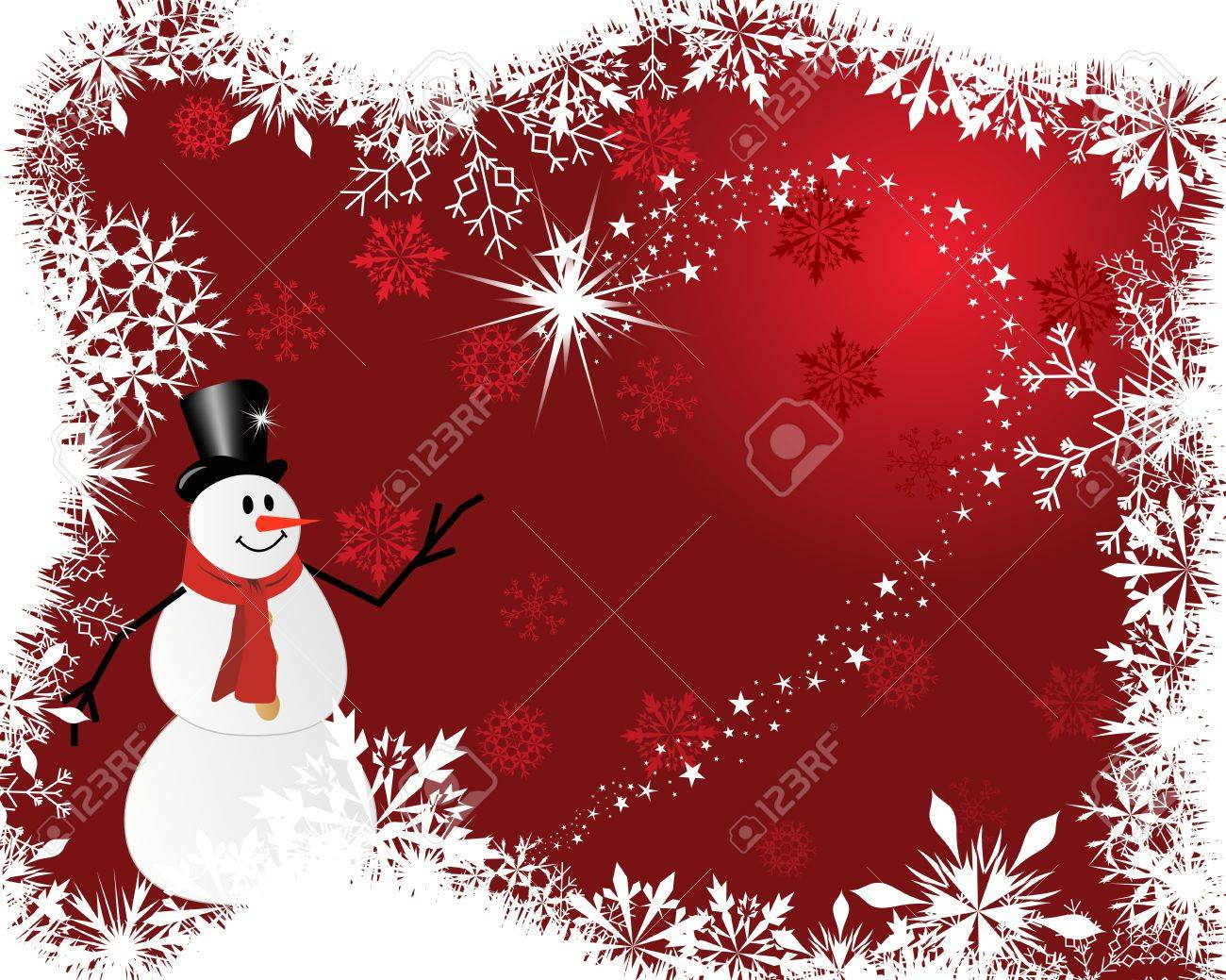 Christmas (New Year) card for design use. Stock Vector - 11072599