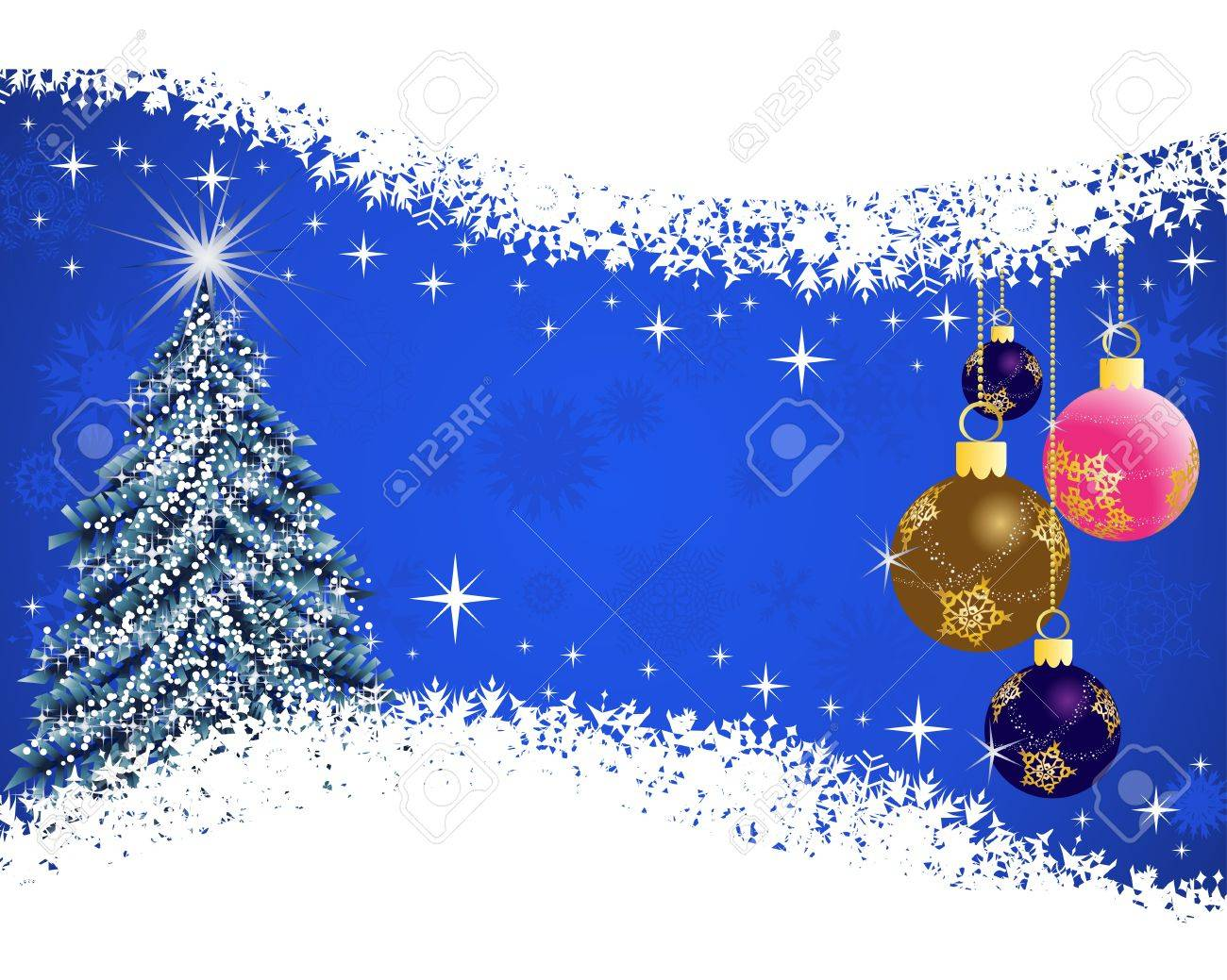 Beautiful Christmas (New Year) card for design use Stock Vector - 11275618