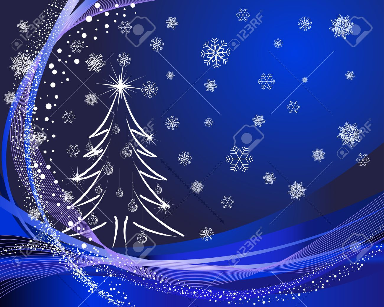 Beautiful vector christmas new year background for design use - Beautiful Christmas New Year Card For Design Use Stock Vector 11275607