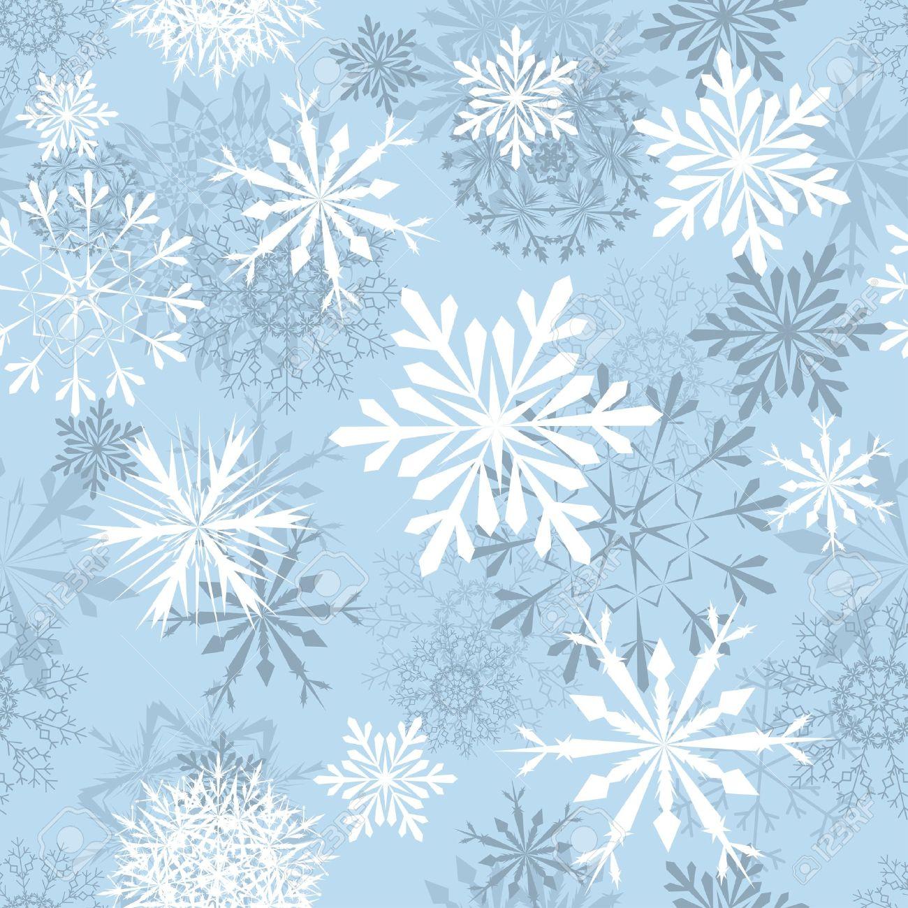 Nahtlose Schneeflocken Hintergrund Für Winter-und Weihnachts-Thema ...
