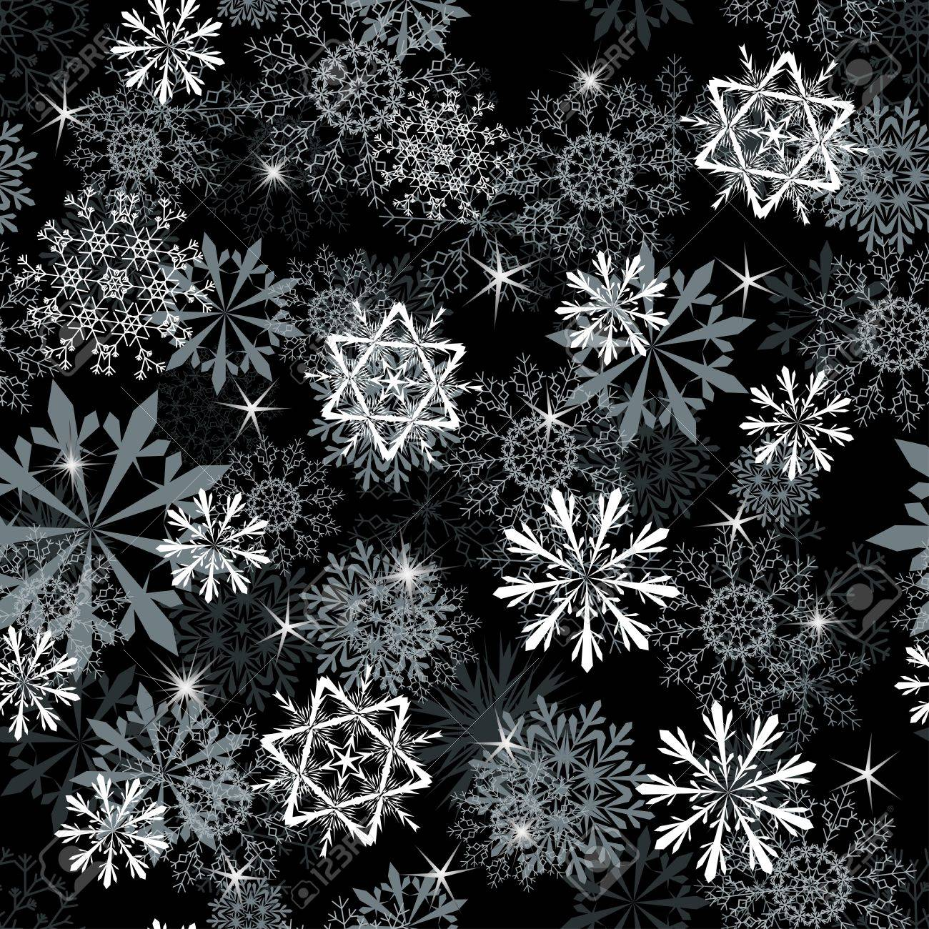 Seamless snowflakes background for winter and christmas theme Stock Vector - 11275617