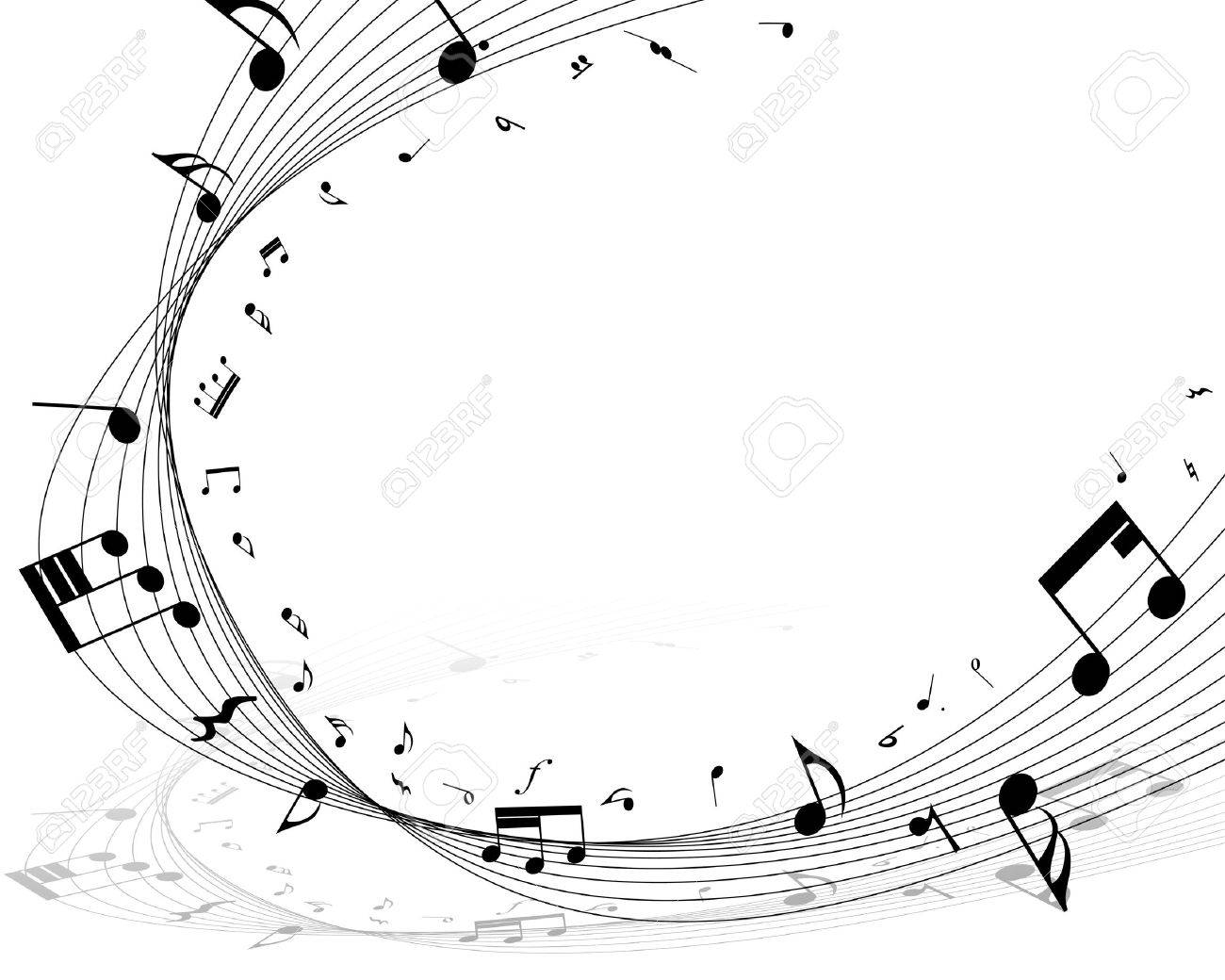 Vector musical notes staff background for design use Stock Vector - 12493041