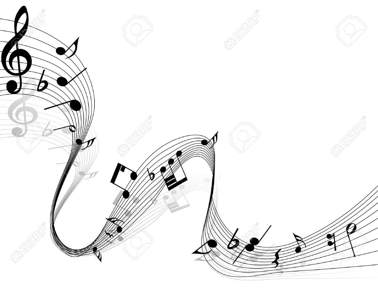 Vector musical notes staff background for design use Stock Vector - 13671632