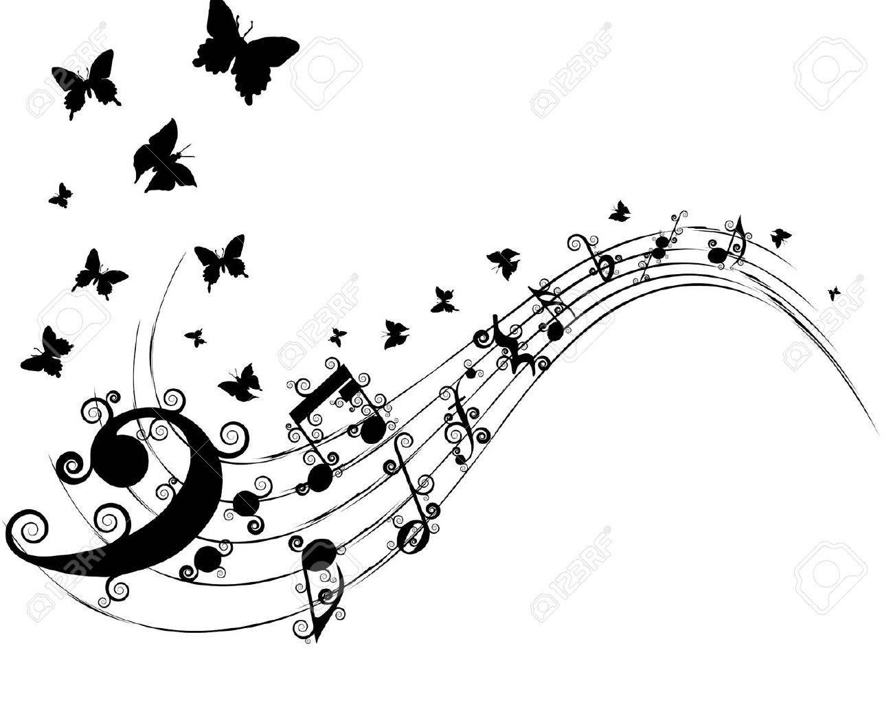 Notas Musicales De Fondo Vector Para El Uso Personal De Diseño