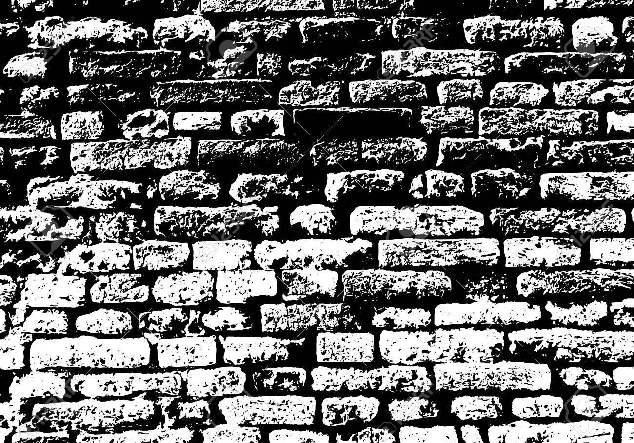 Black Brick Wall grunge white and black brick wall background. royalty free