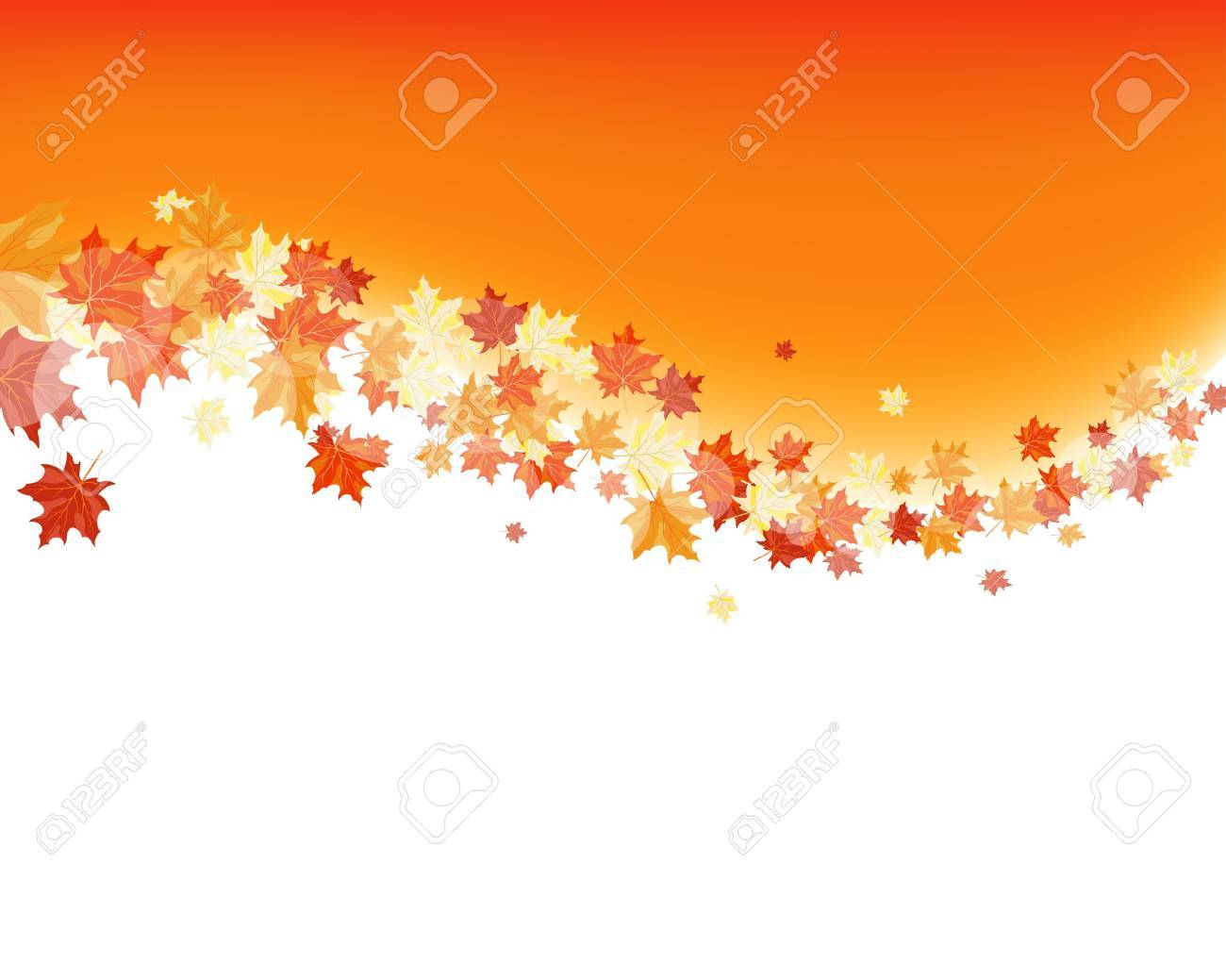 Autumn maples falling leaves background. Stock Vector - 14853740