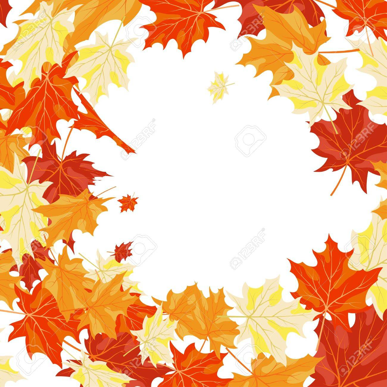 Autumn maples falling leaves background. illustration. Stock Vector - 14899197