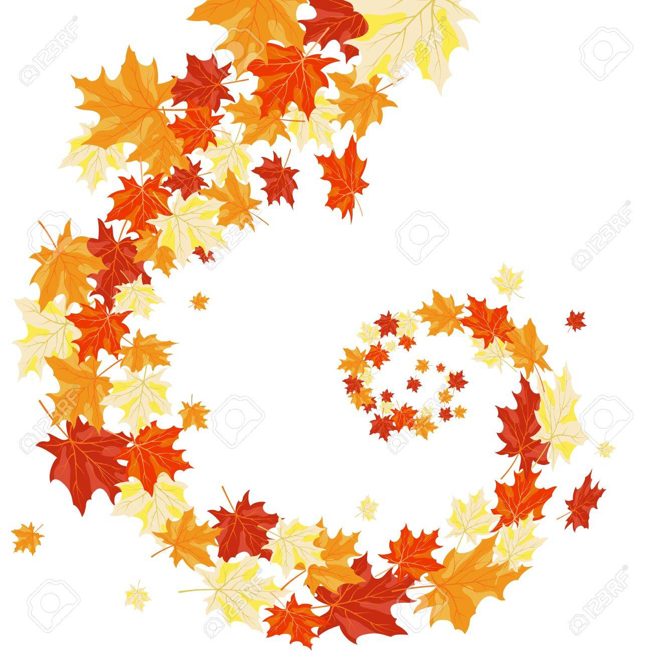 Autumn maples falling leaves background. Vector illustration. Stock Vector - 14899198